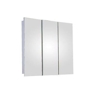"Tri-View Series Polished Edge Medicine Cabinet - 36"" x 36"" Surface Mounted"