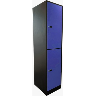 2-Compartment Locker Laminate Door W:400 D:500 H:1700