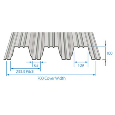 RoofDek D100 (Deep Deck) - Structural decking for roofs