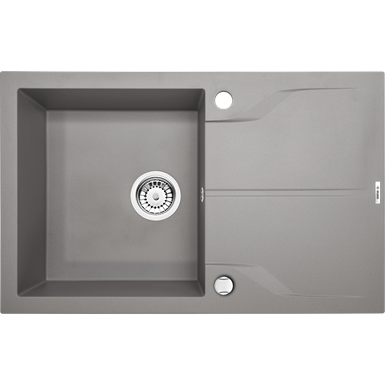 Andante 1-bowl sink with drainer 780x490x190