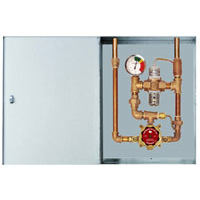 LVC Model - TA-350-LF - Emergency Mixing Valve for  a Single Eye/Face Wash with Override Protection in a SS Cabinet