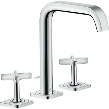AXOR Citterio E 3-hole basin mixer 170 with escutcheons and pop-up waste set 36108000