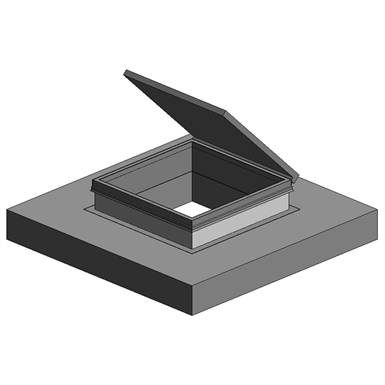 GALVANIZED ROOF HATCH (Precision Ladders, LLC) | Free BIM object for