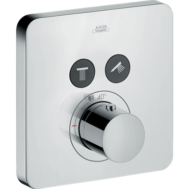 AXOR ShowerSelect Thermostat for concealed installation softcube for 2 functions 36707000