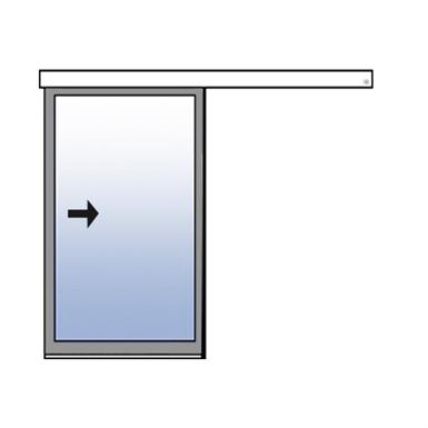 Frame Single Sliding Door Surface Mounted Assa Abloy