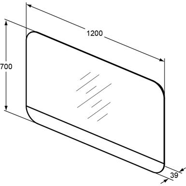 TONIC II MIRROR LED 120X70 135W 230V (Ideal Standard