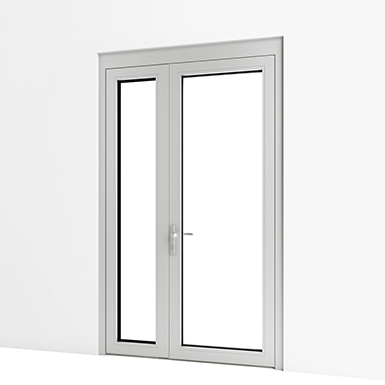 EXTERIOR DOUBLE DOOR (ASSA ABLOY BE) | Free BIM object for ...