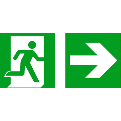 emergency exit sign emaar malls group free bim object for