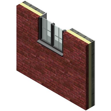 How To Fill A Cavity >> WALL & WINDOW EXTERNAL BRICK, FILL, BLOCK - JAMB (Quinn Building Products) | Free BIM object for ...