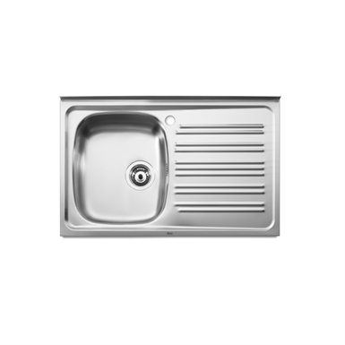 J 800 SINGLE BOWL KITCHEN SINK AND RIGHT DRAINER (Roca) | Free BIM ...