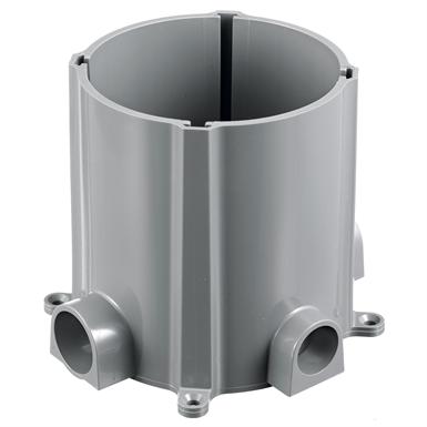 Round Pvc Floor Box Single Or Multi Service Concrete