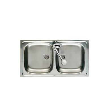 J 900 DOUBLE BOWL KITCHEN SINK (Roca) | Free BIM object for ...