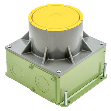 Stamped Steel 4 Inch Recessed Floor Box For Use In