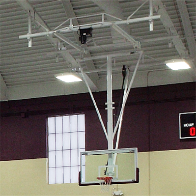 Tb 25r Ceiling Suspended Rear Folding Basketball Backstop