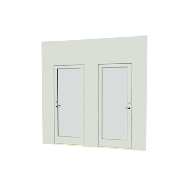 Double Door Glass Moelven Modus Free Bim Object For Revit