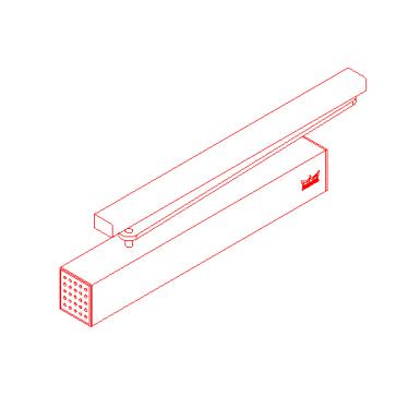 door closer ts 93 dormakaba free bim object for. Black Bedroom Furniture Sets. Home Design Ideas