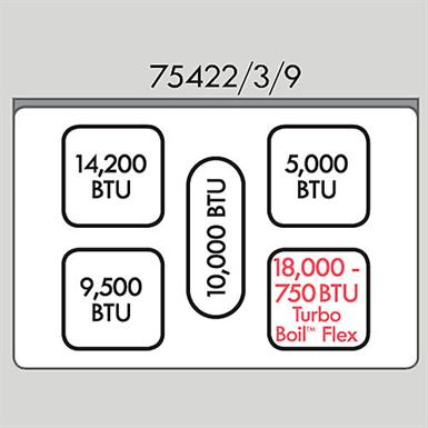 KENMORE ELITE 75429 5.9 CU. FT. DOUBLE-OVEN GAS RANGE