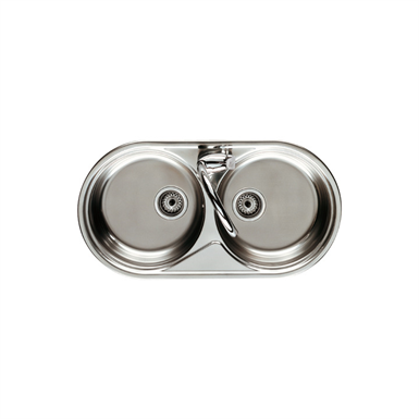 DUO 900 DOUBLE BOWL KITCHEN SINK (Roca)   Free BIM object for ...