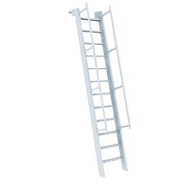 523 Aluminum Ships Ladder Access To Roof Hatch 75 176 O
