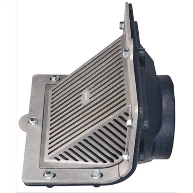 Z187 Scupper Drain With Oblique Grate Threaded Outlet