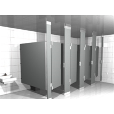 SOLID PLASTIC TOILET PARTITIONS FLOOR TO CEILING Hadrian - Cheap bathroom partitions