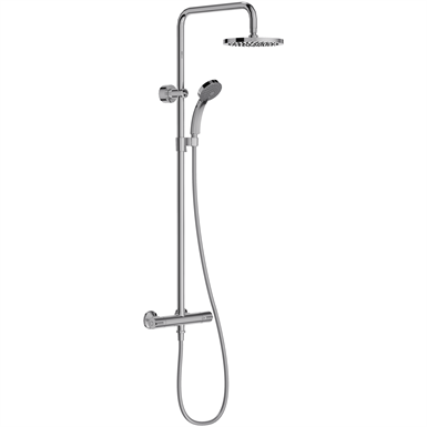 JULY - SHOWER COLUMN WITH THERMOSTATIC MIXER AND ROUND SHOWERHEAD ...