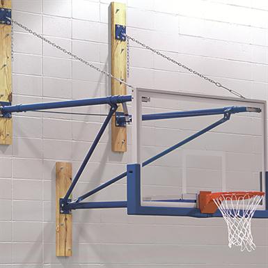 Swd Wall Mounted Stationary Basketball Backstop Draper