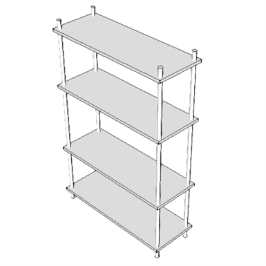 M2055 Shelving Storage Wire Crs W Adjustable Shelves