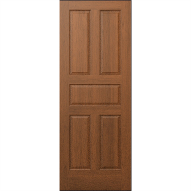 5 Panel Wood Door Interior Commercial Residential With Fire