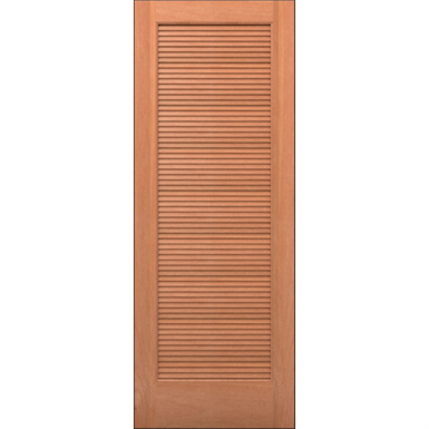 Wood Louver Door Interior Residential Or Commercial With Fire
