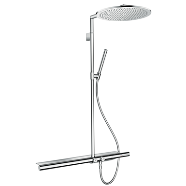 AXOR SHOWERS SHOWERPIPE 800 WITH THERMOSTATIC MIXER AND OVERHEAD ...