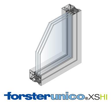 window forster unico xs hi frame 8 mm single leaf forster free bim object for archicad. Black Bedroom Furniture Sets. Home Design Ideas