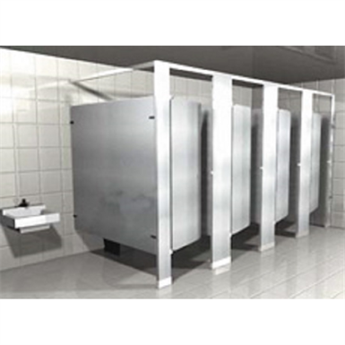 POWDER COATED TOILET PARTITIONS HEADRAIL BRACED (Hadrian ...