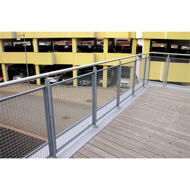 40 Amp Wire Size >> SECTIONAL RAILING MESH TOP MOUNTED (Weland AB) | Free BIM ...