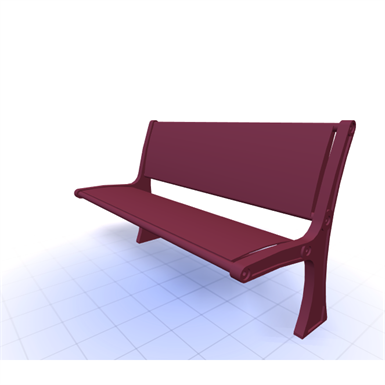 CANOPY BACKED BENCH 6FT (SiteScapes Inc ) | Free BIM object