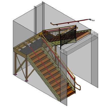 Flat Plate Stringer Model Lapeyre Stair Inc Free Bim