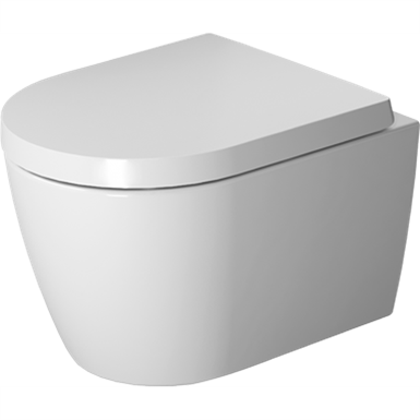 ME BY STARCK TOILET WALL MOUNTED COMPACT DURAVIT RIMLESS¨ 253009 (DURAVIT) | Free BIM object for ...