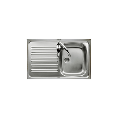 E 900 SINGLE BOWL KITCHEN SINK AND LEFT DRAINER (Roca) | Free BIM ...