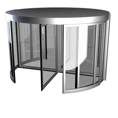 Framed 4-wing revolving door 1.8 to 3.6 m ∅