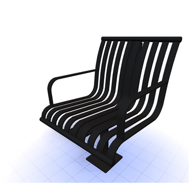 CITYVIEW SURFACE MOUNTED BACKED CHAIR (SiteScapes Inc ) | Free BIM