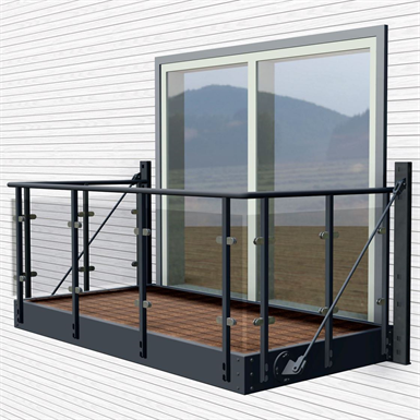 Balcony with orkla glass railing midthaug free bim for Balcony with glass