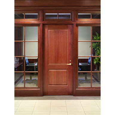 2 panel wood door interior commercial residential with fire options k4010 karona free for Commercial interior wood doors