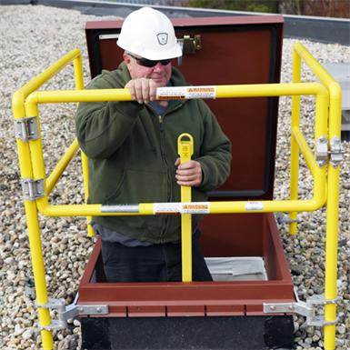 Roof Hatch Fall Protection Railing System The Bilco