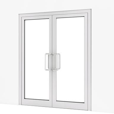 Puerta interior con vidrio 2 h assa abloy es objeto bim gratuito para archicad archicad - Puertas deslizantes de cristal ...