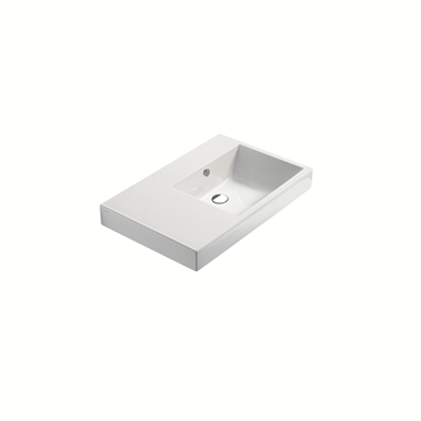 zero domino 75 dx basin ceramica catalano objeto bim. Black Bedroom Furniture Sets. Home Design Ideas