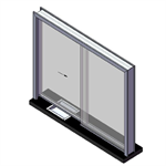 ARMORTEX® Sliding Hollow Metal Transaction Window System