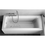 CONNECT BATH TUB 120X70 BUILT IN SEAT WHITE