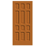 12-Panel Wood Door  - Interior Commercial / Residential with Fire Options - K3320