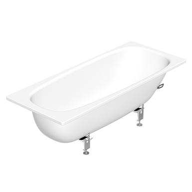 Built in bathtub duo 1700x700 3970 gustavsberg for Built in tub dimensions