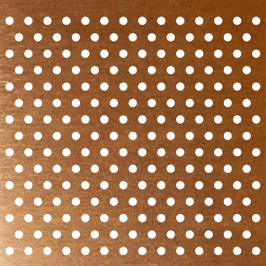 Perforated Copper Plate Accurate Perforating Objets